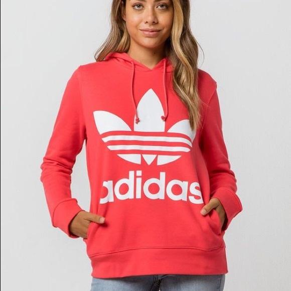 adidas Tops   Hot Pink Hoodie   Poshmark